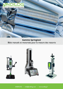 Spring testing instruments catalogue