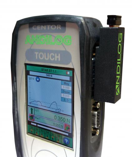 Force gauge Centor Star Touch with Datastick II for ergonomic tests